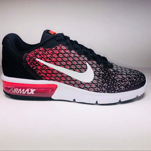 5abef23f1ed2d Womens Nike Air Max Sequent 2 Black Pink Sneakers